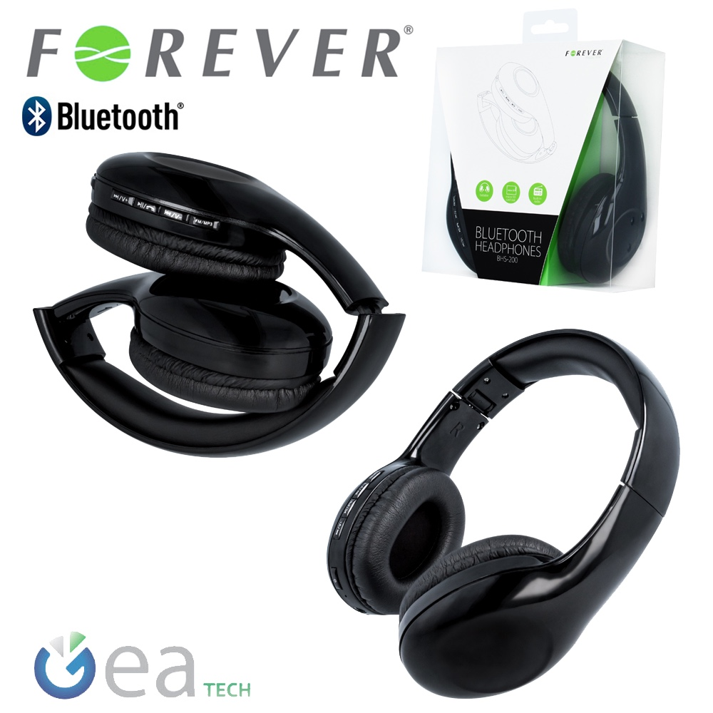 forever bhs 200 casque st r o bluetooth 3 0 sans fil avec radio fm pour tv pc ebay. Black Bedroom Furniture Sets. Home Design Ideas