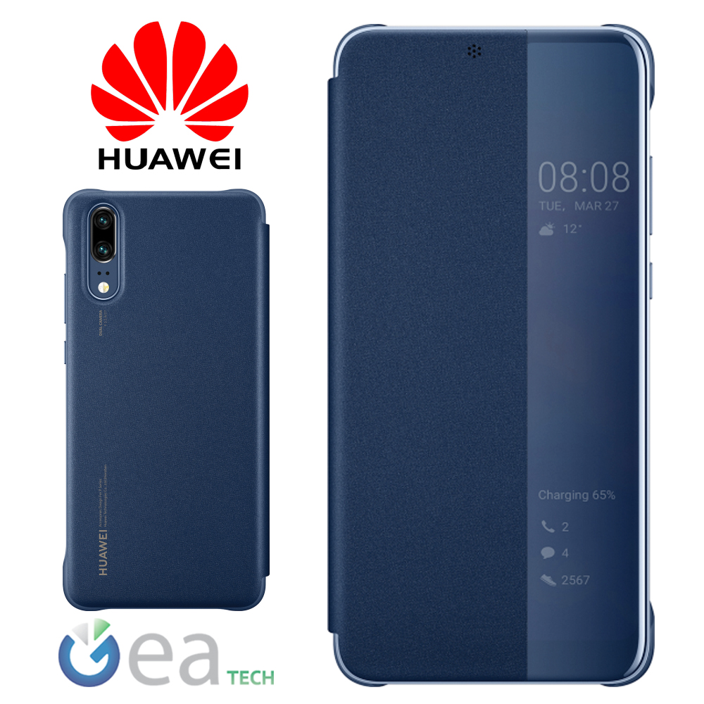 etui-Original-HUAWEI-pour-P20-Smart-View-Coque-Etui-Flip-Touch-reserver-Slim