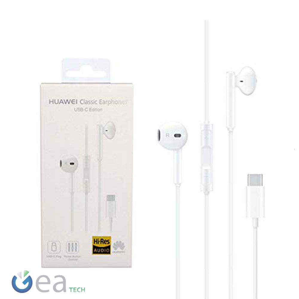 Dettagli su Auricolare Originale Huawei CM33 Cuffie Stereo in ear Type C + Mic Per P20 Pro