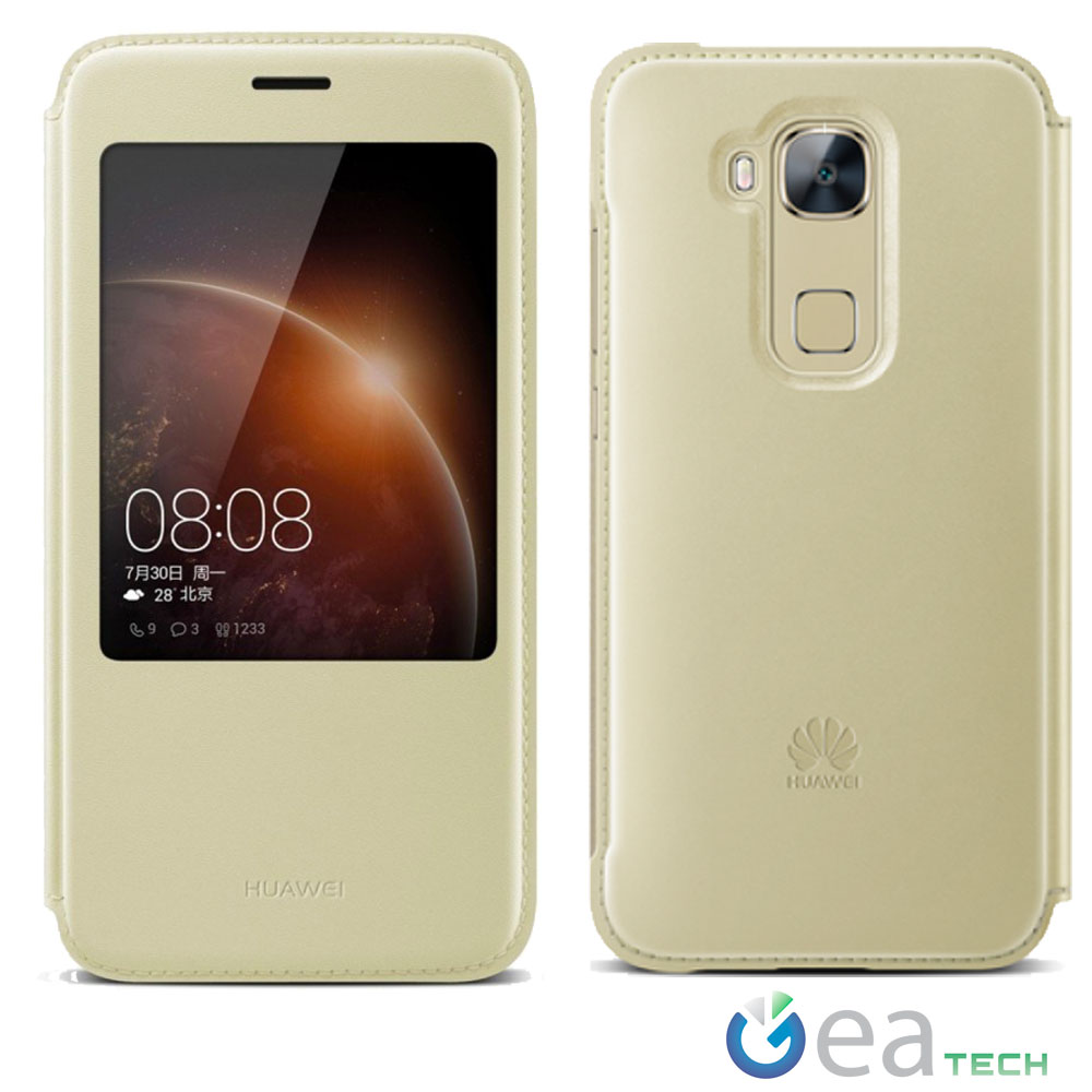 Custodia-ORIGINALE-HUAWEI-Per-G8-Smart-Cover-View-Con-Finestra-Flip-Case-Pelle
