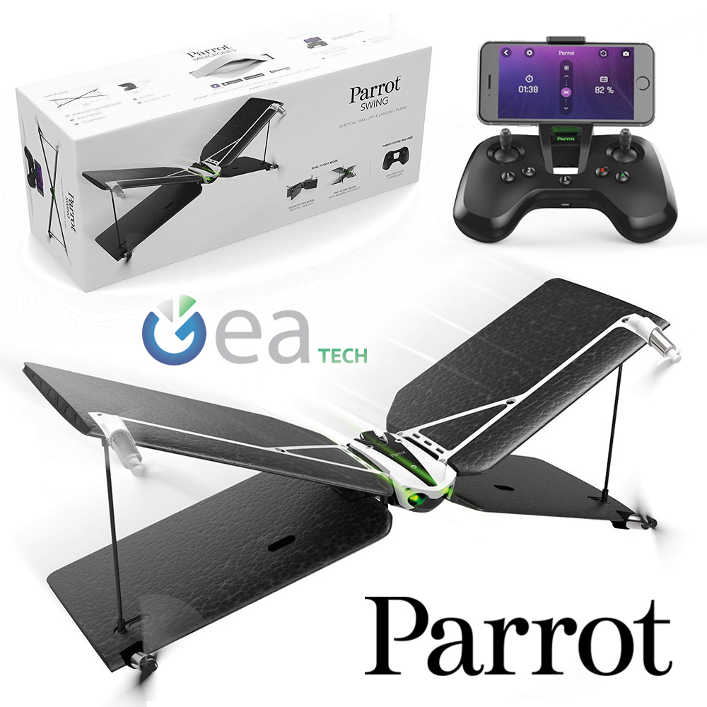 Parrot SWING QUADCOPTER Mini Drone with FlyPad Controller Camcorder ...
