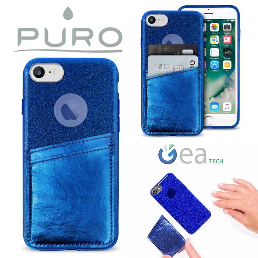PURO-SHINE-POCKET-Cover-Per-iPhone-6S-7-8-Custodia-TPU-Card-Anti-Shock-Glitter